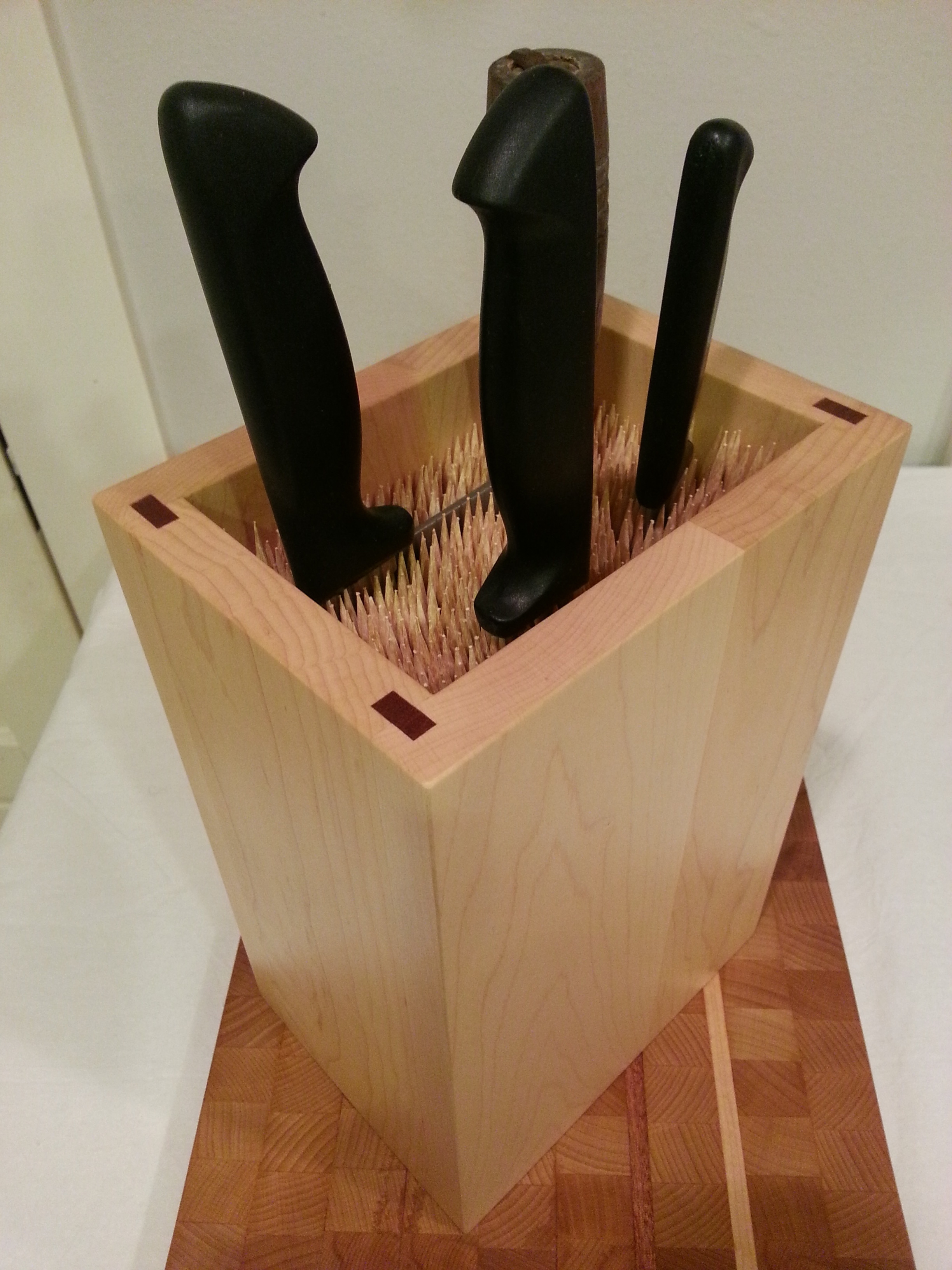 Bamboo Skewer Knife Block Plans