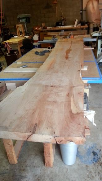 Big leaf maple slab. 8/4 x12 ft x 26 in.