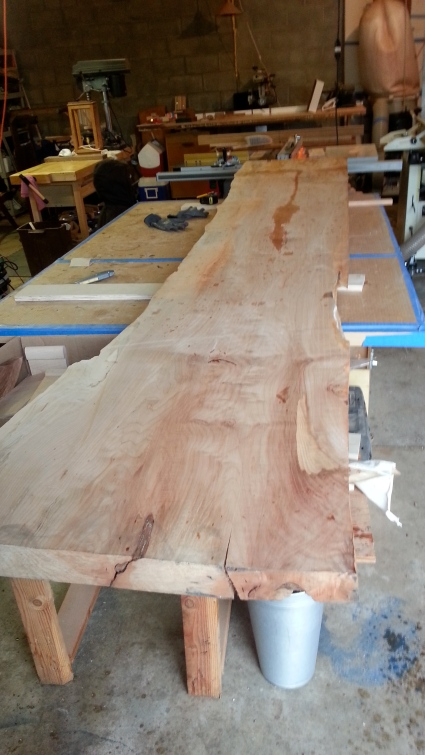 Big leaf maple slab. 8/4 x12 ft x 26 in.