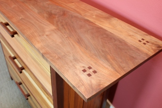 walnut top dresser