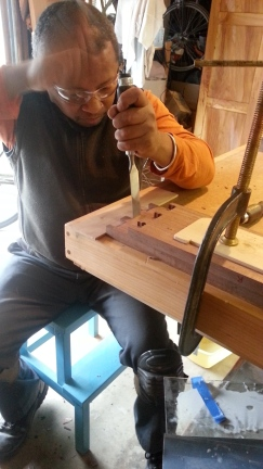 Hand cut dovetail