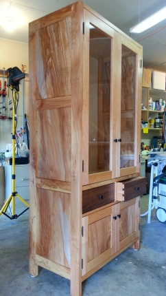 Woodworking, China cabinet