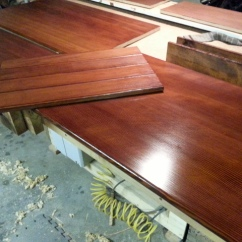 Panels Dyed with light brown General Finish (water base)