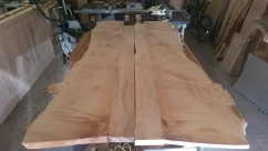 Book matched slab of maple